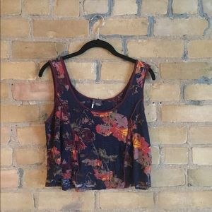 Urban Outfitters floral crop tank